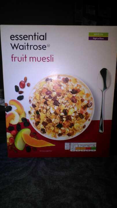 Waitrose essential fruit muesli