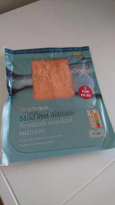 Waitrose frozen smoked salmon