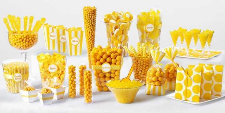 Yellow sweets