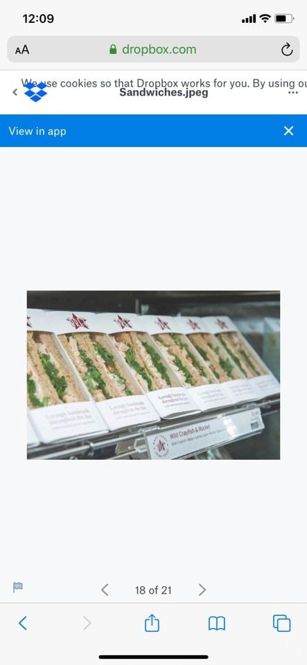 Various sandwiches (Pret) SALMON