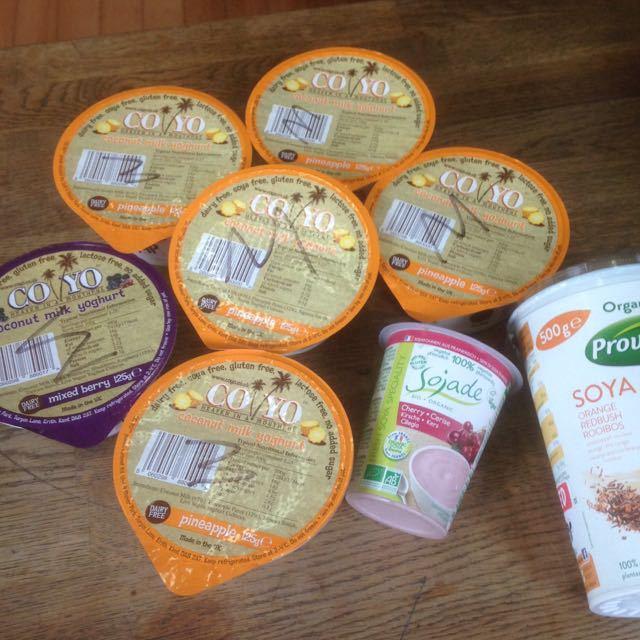 Various Dairy Free Yogurts