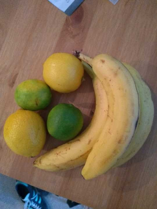 Bananas, lemons and limes. Ended up with a surplus!