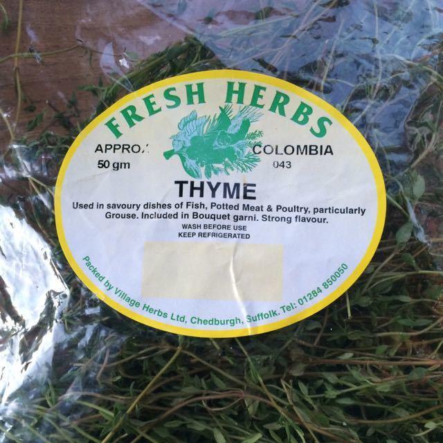 Bag of fresh thyme