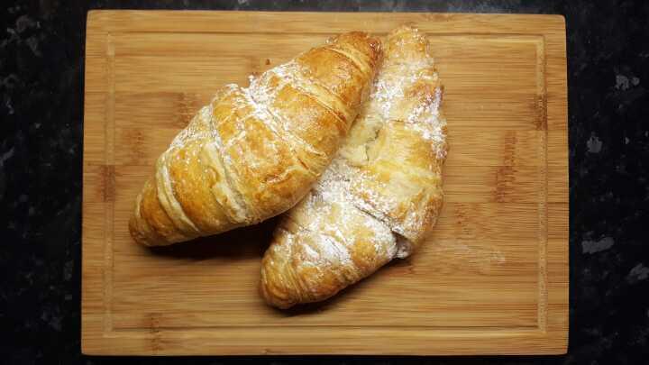 2x Sweet croissants. From Muffin Break Burton.