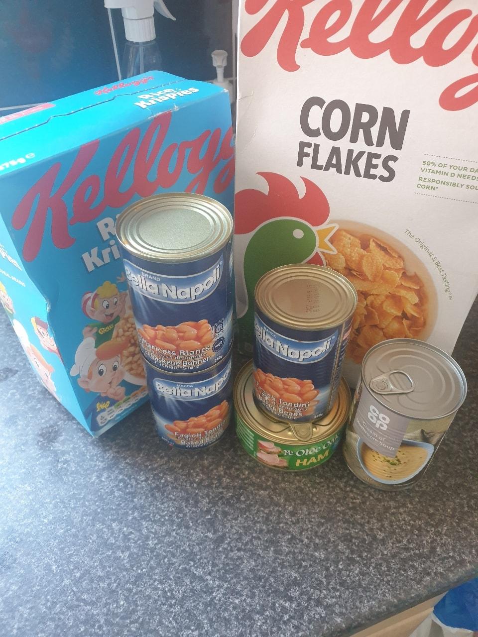 Various food items