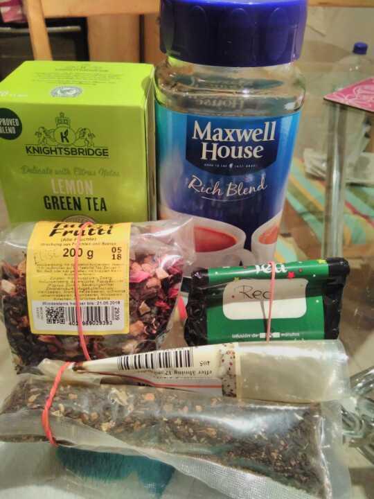 Selection of teas/herbal teas