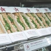 Sandwiches, baguettes, salads, bakery items from Pret