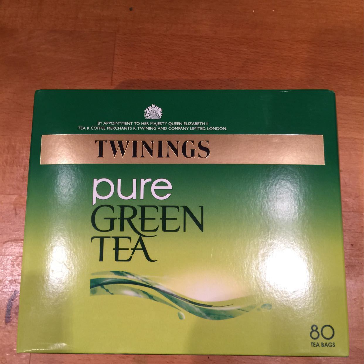 Green tea bags - fresh and unopened. 80 bags