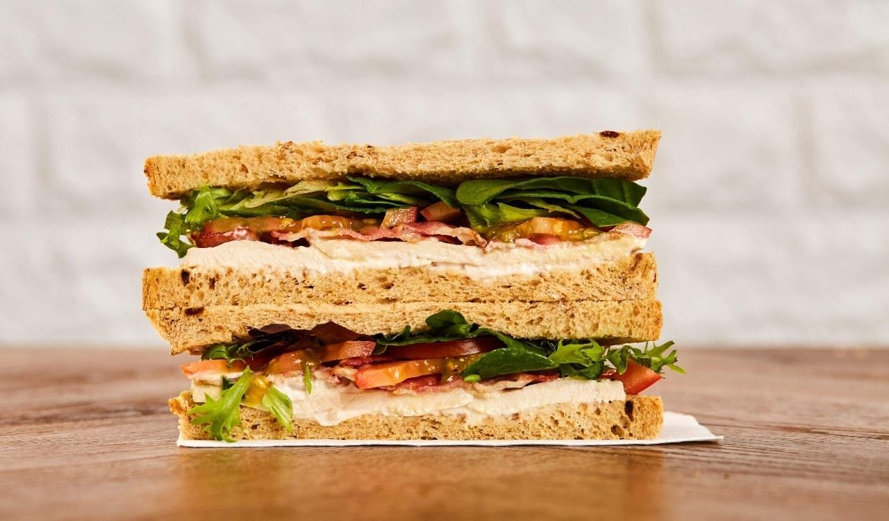 Pret a Manger ham an cheese sandwich