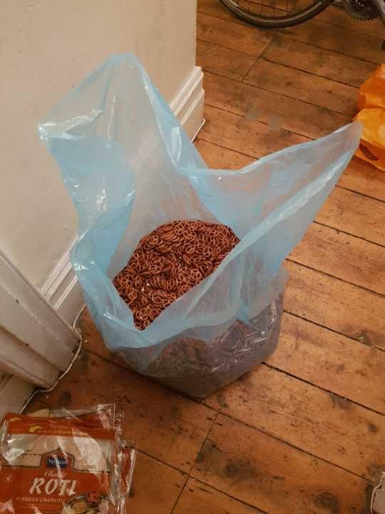 Huge bag of pretzels