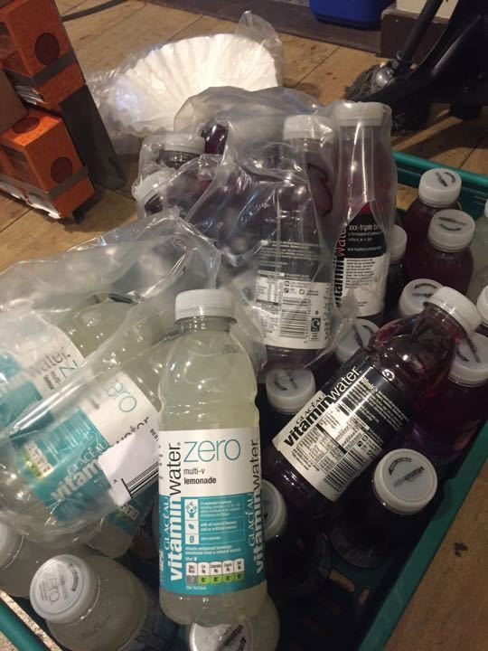 Vitamin water. Loads of them