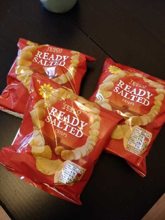 3 Packets of Ready Salted Crisps