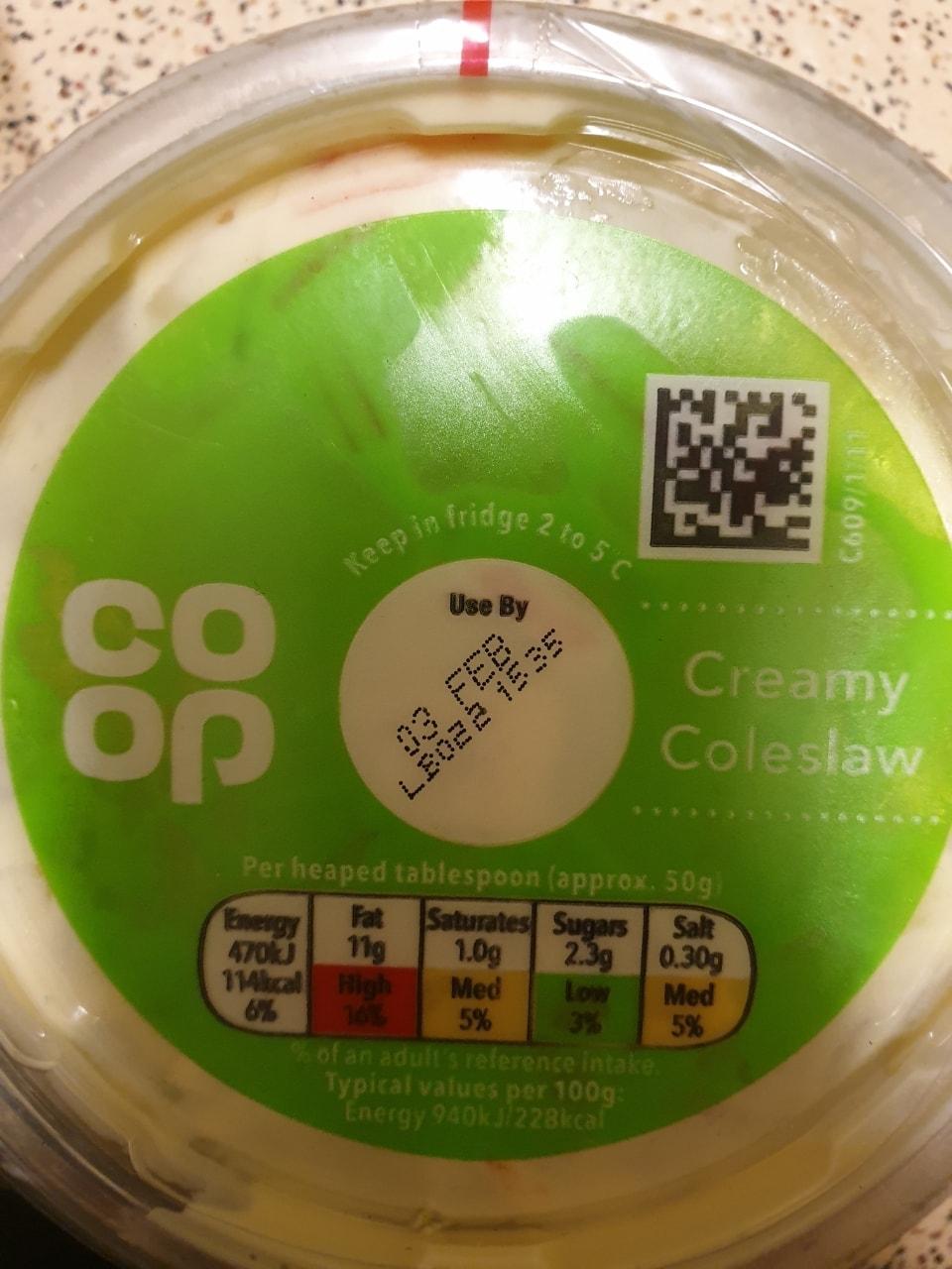 Coop creamy coleslaw