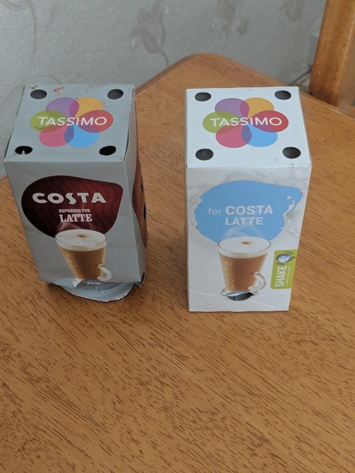 Tassimo coffee pods Costa latte