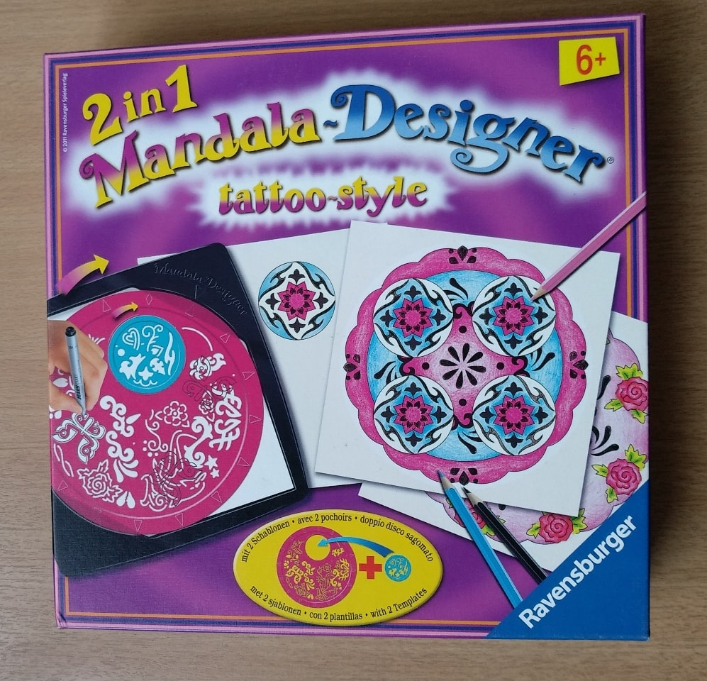 Mandala designer tattoo style