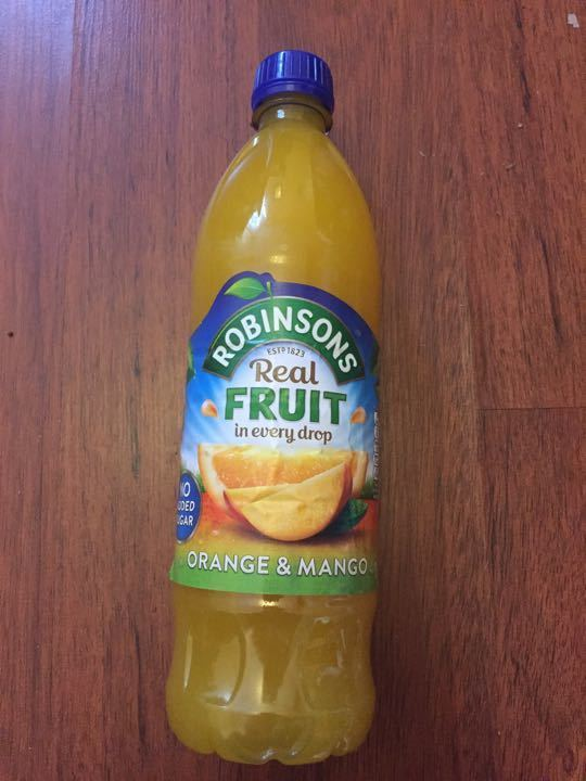 Unopened and in date Robinsons orange and mango squash