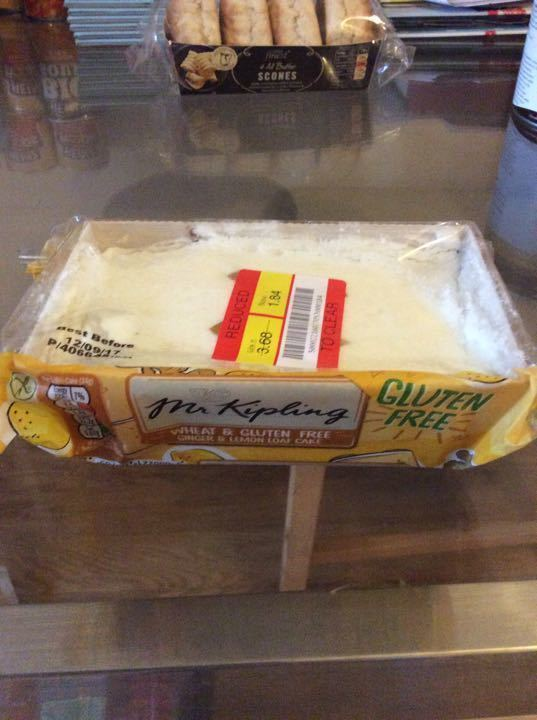 Gluten free ginger lemon loaf cake