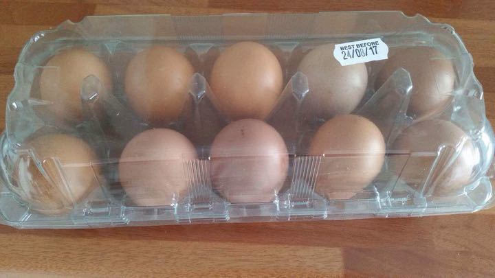Free range eggs from Hamptonene Farm