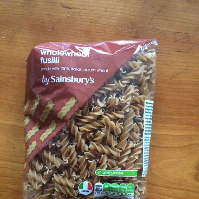 Wholewheat fusilli