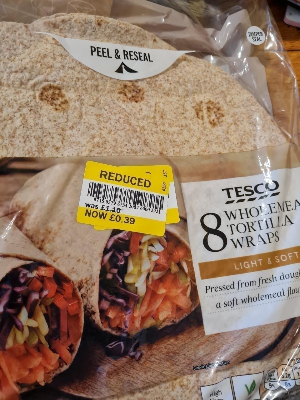 8 tortilla wraps
