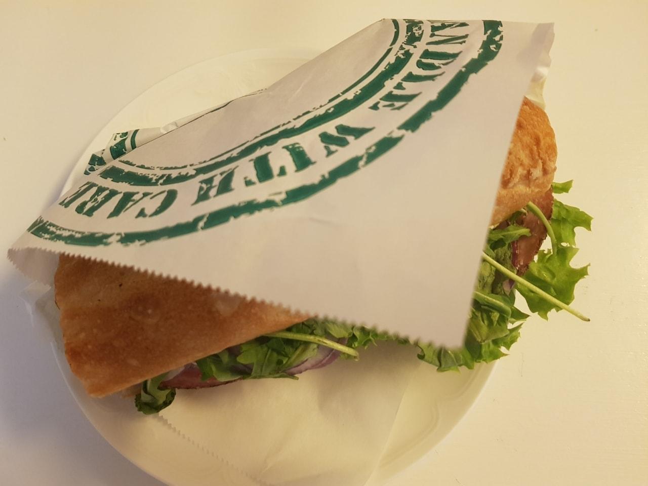 Chicken sandwich from Stories