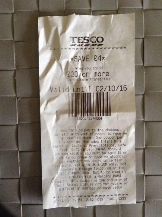 Tesco 'Save £4 When You Spend £30 or More' Voucher