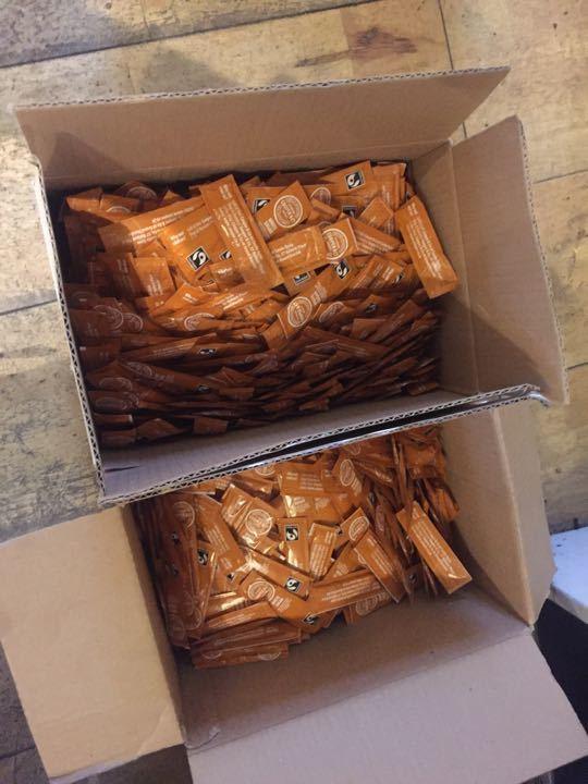 Sugar! 2 big boxes of sugar sachets
