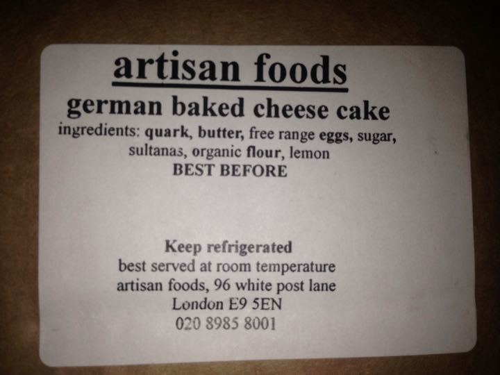 Cakes kindly donated by artisan foods