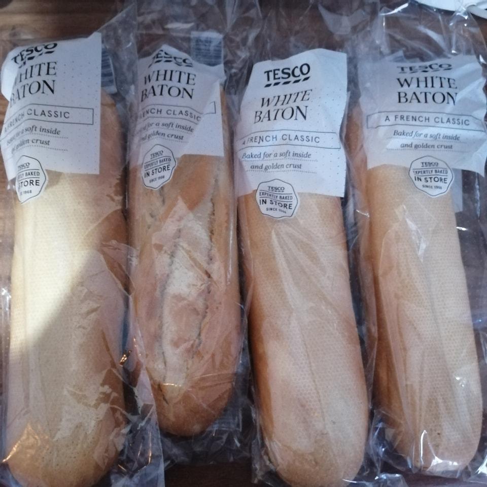 4x small white baton baguettes