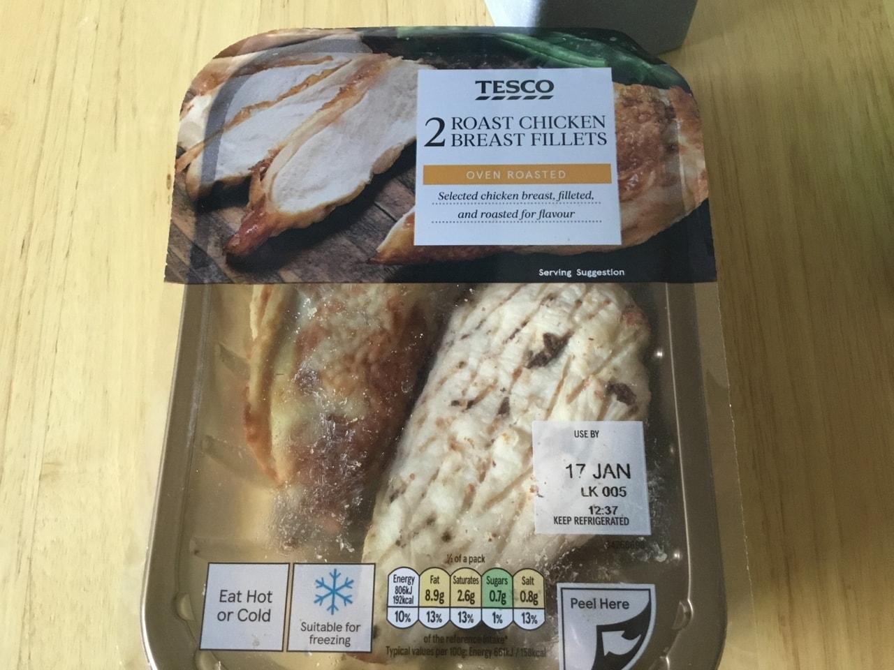 Tesco roast chicken breast fillets