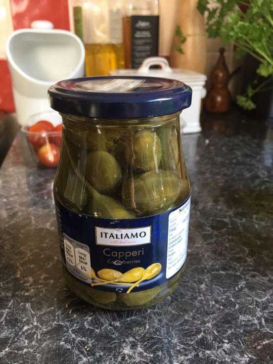 Jar of caper berries