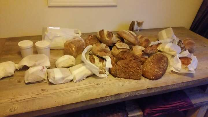 Bakery collection lots of bread and filled rolls