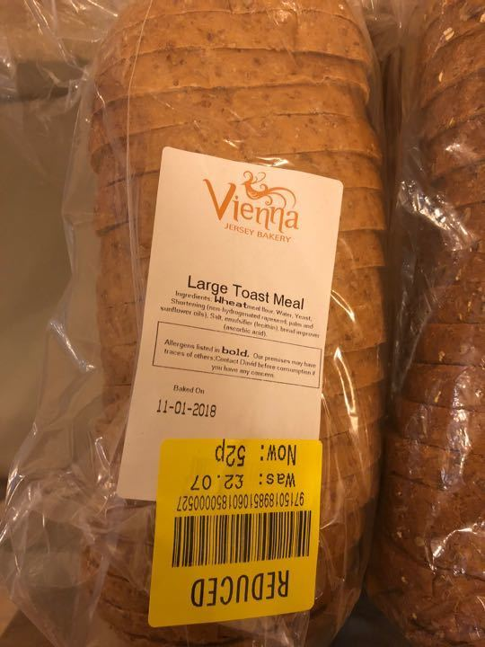 Large toast meal bread