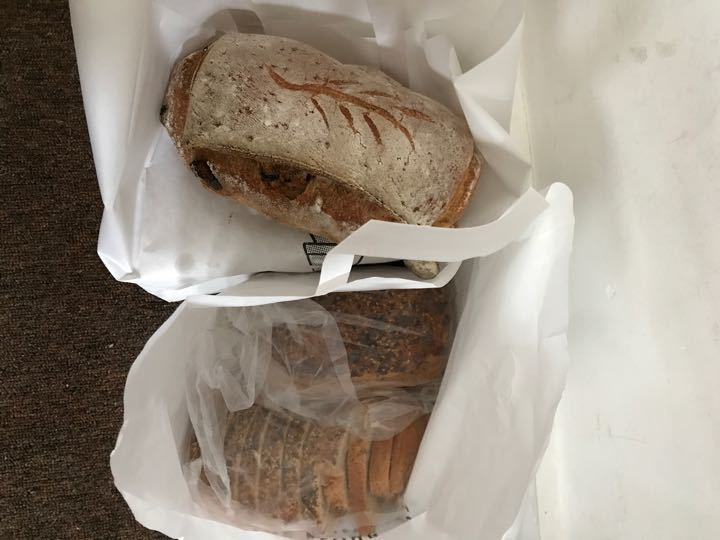 4 loaves from the flour pot bakery. No gluten free this week