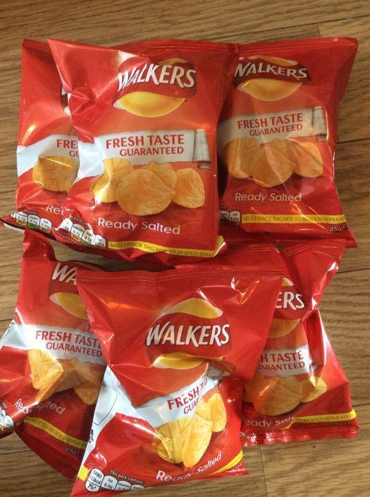 Ready salted crisps