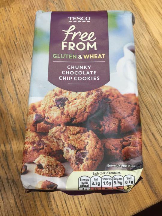 Gluten free chunky chocolate chip cookies