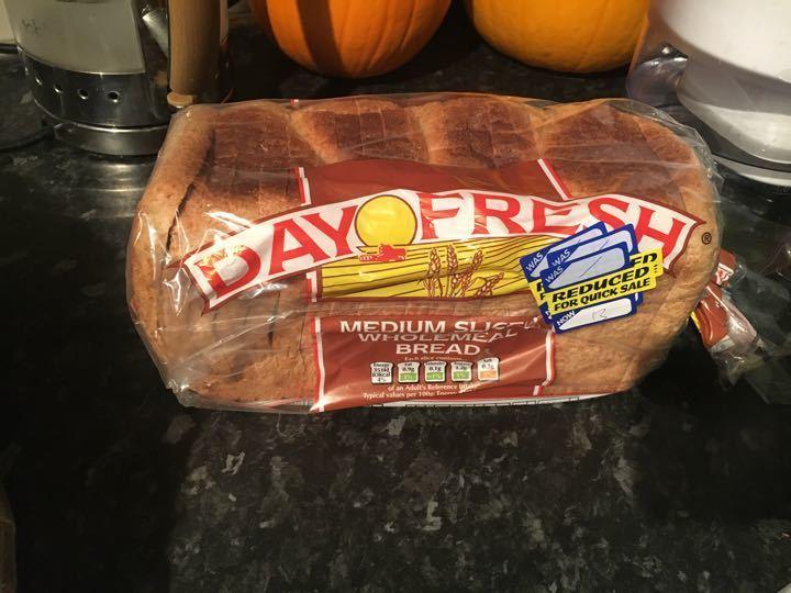 Medium slice wholemeal bread
