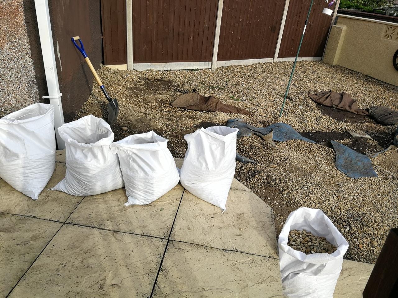 Bags of gravel