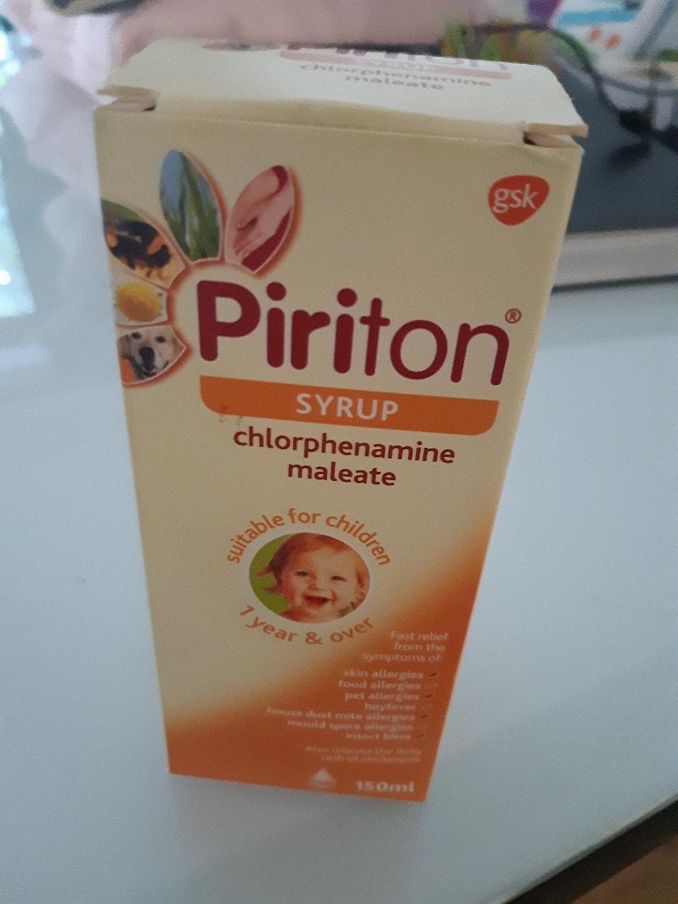 Piriton Syrup 1yr + unopened