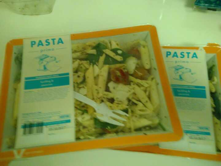 Pasta with chicken and pecorino cheese