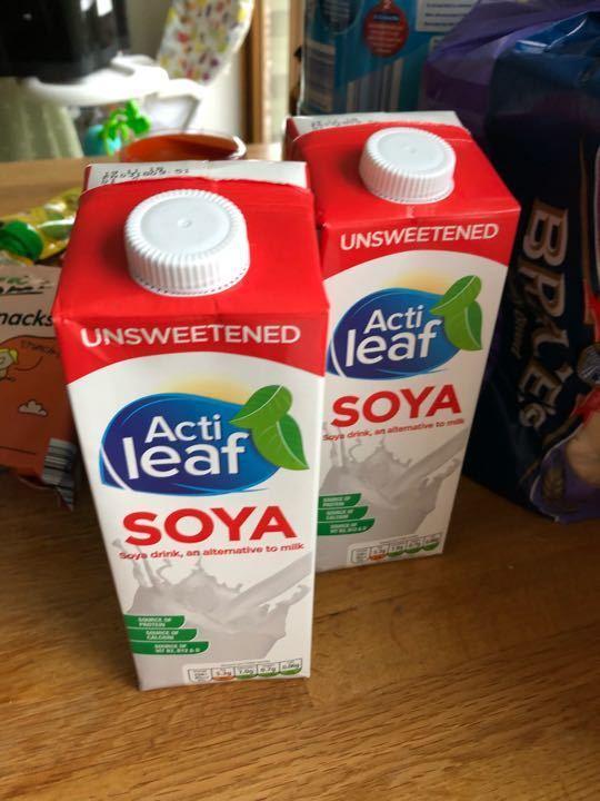 Aldi unsweetened soya milk