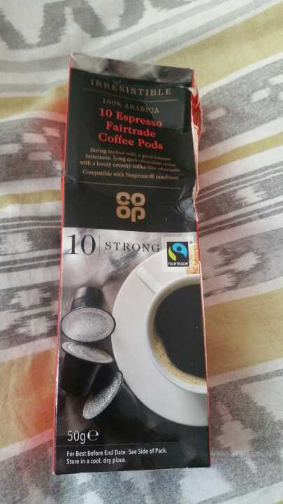 Espresso coffee pods from Coop