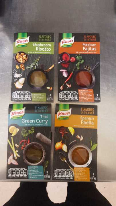 4 flavours of recipe pastes