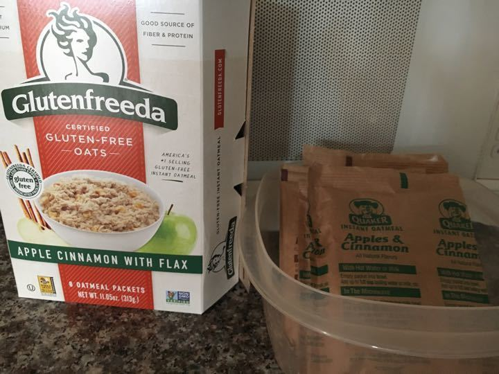 Packaged instant oatmeal!