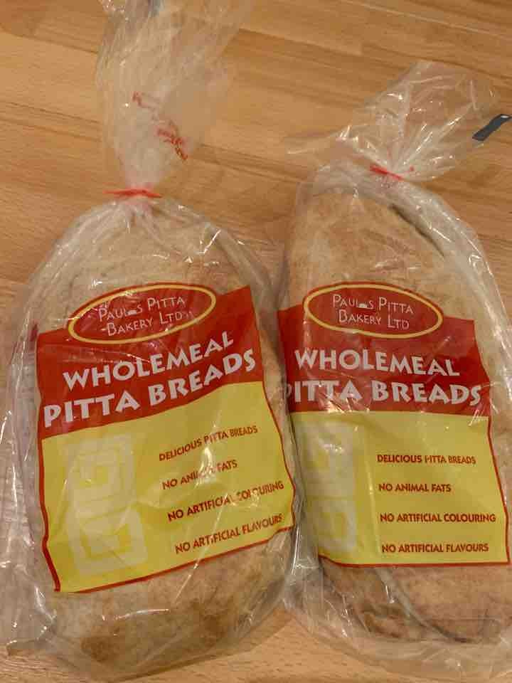 Two packs of wholemeal Pitta