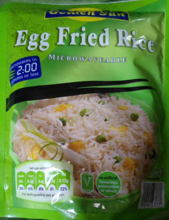 Egg fried rice. 7 packets. Bbe 01 2016