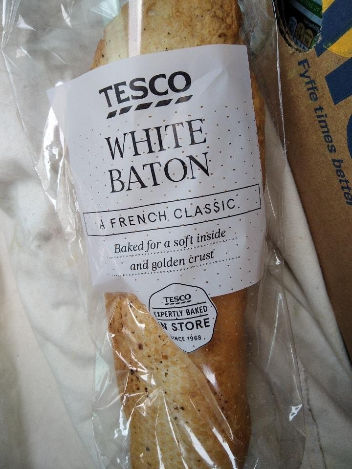 Tesco White Baton loaf