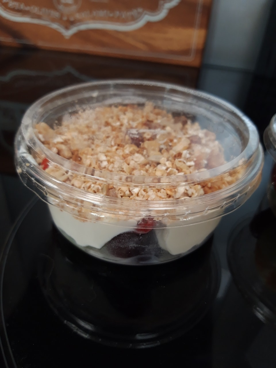 Fruit yogurt granola pot