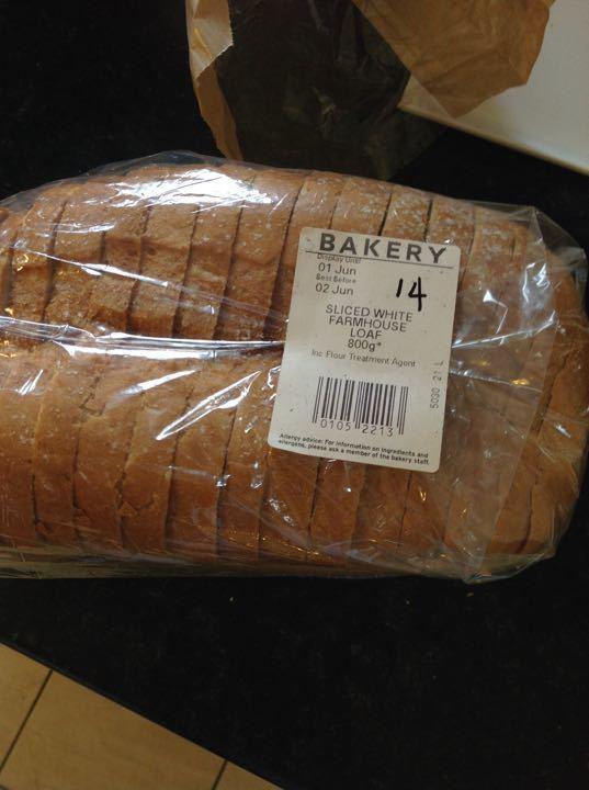 Sliced white bread 800g