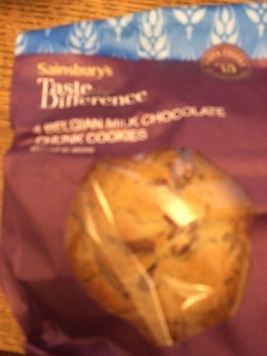 4 Belgian chocolate chunk cookies.